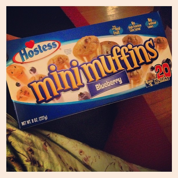 I'm gonna miss you Hostess!! 😢😢😢 #hostess #minimuffins #yummy by chelsieloohoo http://instagr.am/p/SZoOSlub6_/