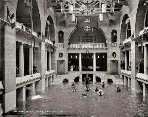 St. Augustine, Florida circa 1889. Bathing pool in the Casino, Hotel Alcazar.