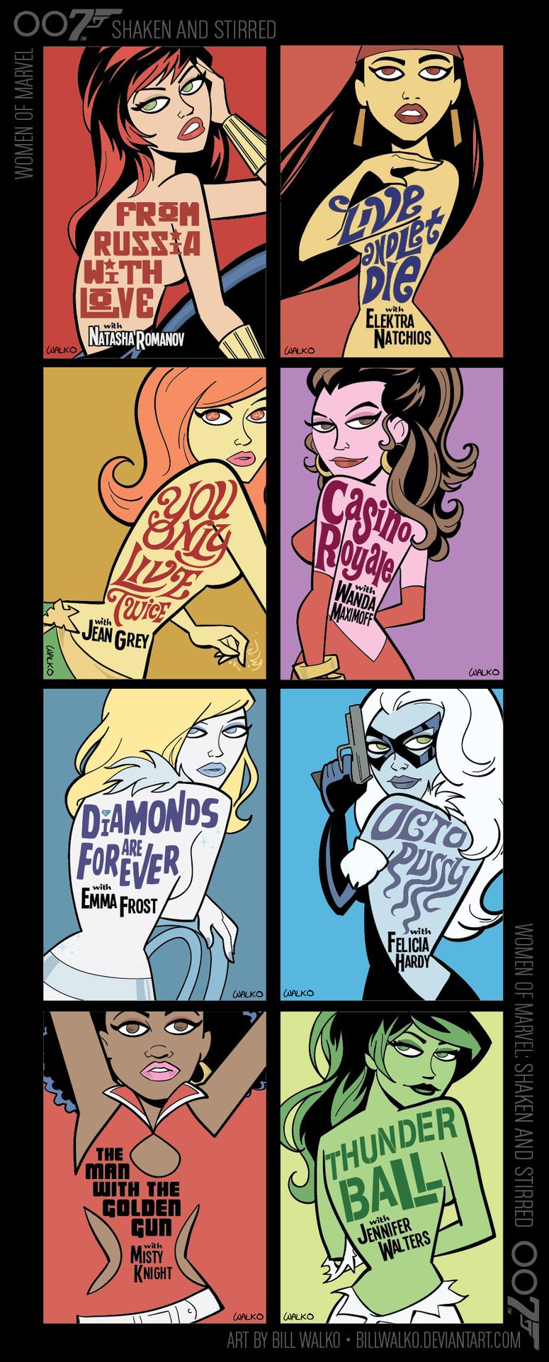 Women of Marvel as Bond Girls by Bill Walko.