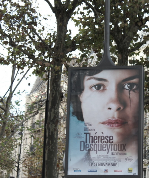 Thérèse Desqueyroux poster in Paris Photo by aimeeaxel on Flickr.