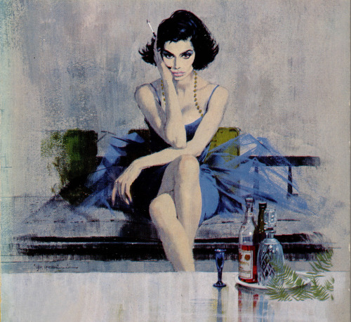 pinupgirlsart:  Robert McGinnis - Francesca (by uk vintage)