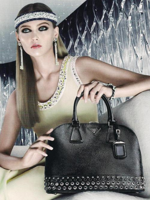 garavani:  Sasha Pivovarova photographed by Steven Meisel for Prada Resort 2013