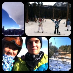 first day boarding, heck yeah! #Eldora #snowboarding (at Eldora Mountain Resort)