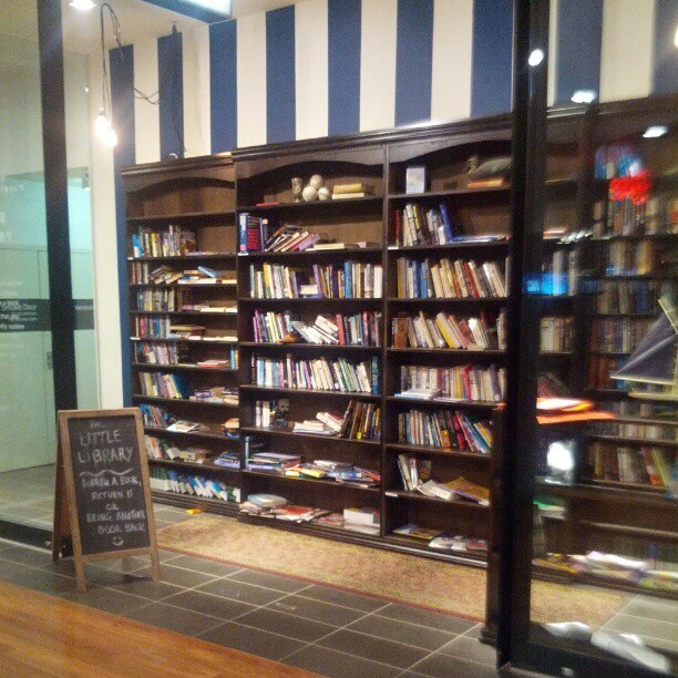 hisnamewasbeanni:  frezned:  Melbourne Central has a little free library thing! Its just some unmanned bookshelves and you take a book or donate your own! Man I never noticed this place before but its got some books from me incoming for sure.  Holy shit Melbourne I love you.  I must find this place!