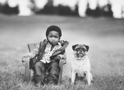 barebrownboy:      Sums up my dream for the future: cute child, cute pug.
