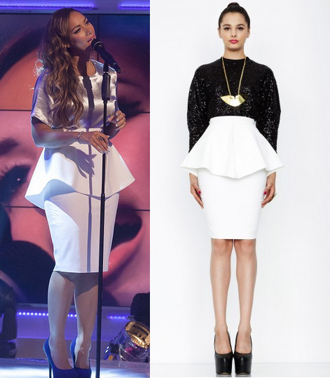 Leona Lewis recently.  Get the skirt —> HERE