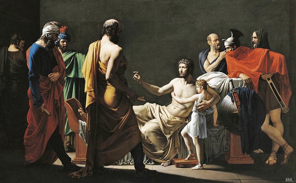 Antiochus returns his son Scipio. 1800. Jean Pierre Granger. (1779-1840). http://hadrian6.tumblr.com