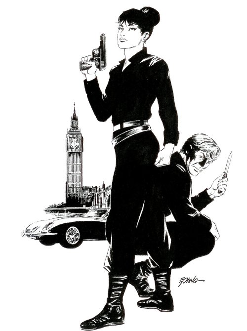 comicblah:  Modesty Blaise by Steve Epting