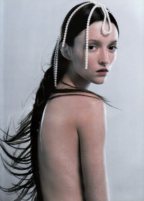 Vogue France, September 1999Photographer : Eric TraoréModel : Audrey Marnay