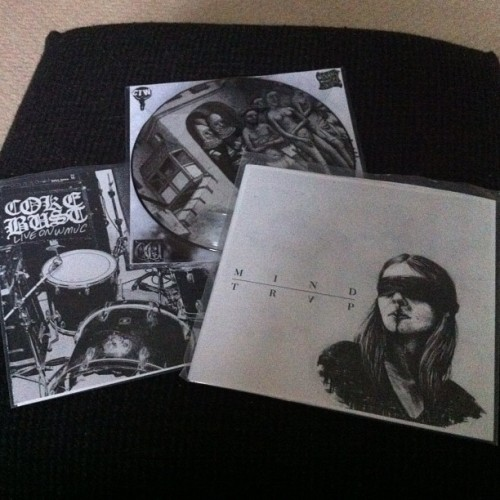 "Mind trap, wayfarer and coke bust 7""s now in from Carry the Weight #wayfarer #cokebust #mindtrap #carrytheweight #hc"