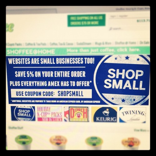 Save 5% off your @ShoffeeCoffee all #SmallBizSat… #shopsmall