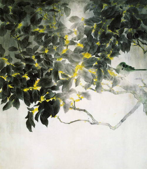 iamjapanese:  Zhang Weimin(张 伟民 Chinese, b.1955) A Moon Rising in the Dark Night   月出惊山鸟