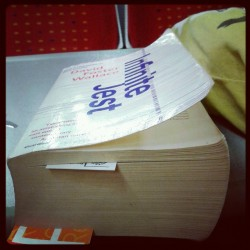 Infinite Jest on the train to Nottingham