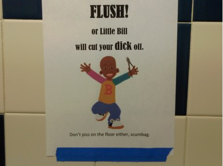 Flush, or else!