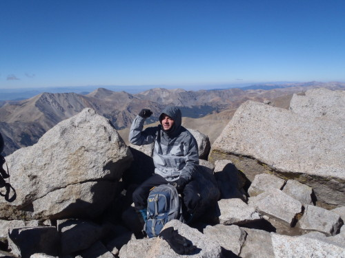 Me on the summit of Mt. Shavano, 14, 229 feet.