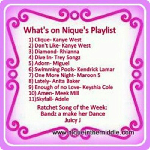 What I'be been jamming to…#playlist #music #plussizeblogger #plussize #Blogger (at www.niqueinthemiddle.com)