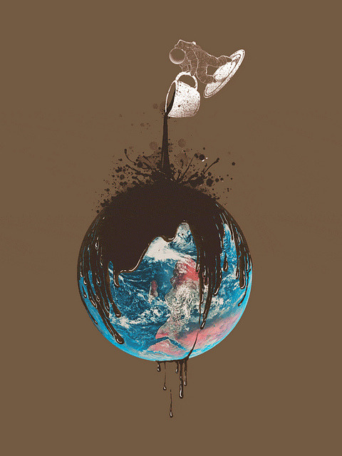 coffeepeople:  World filled with Coffee by Anwarrafiee on Flickr.