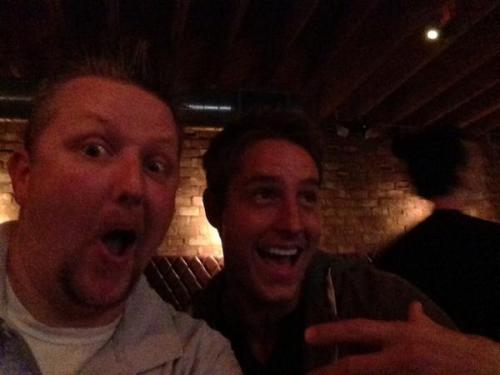 misschlollifan:  Justin having fun with his friend Mat… source: https://twitter.com/Mhardege