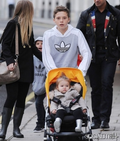 Harper Beckham enjoys the good life! More pics here!