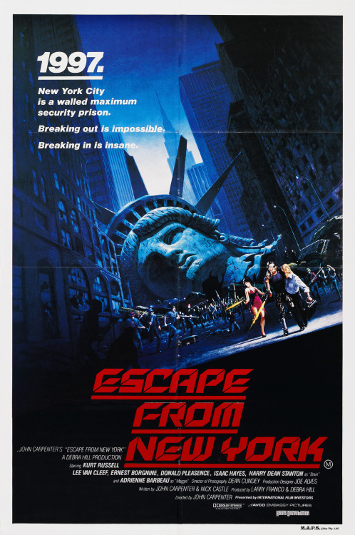 fuckyeahmovieposters:  Escape from New YorkSubmitted by Fuoritempo