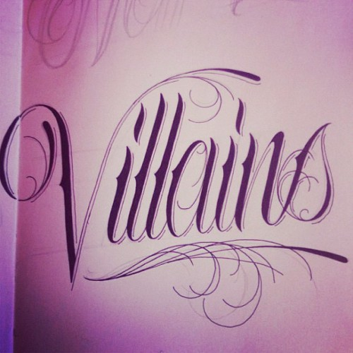 I drew some script for fun and it was well received by the Villains fam. villainsco: I would never mind. Always honoured when someone draws up something for fun.