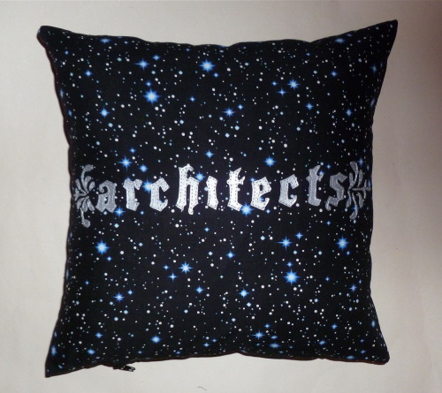CUSTOM ARCHITECTS CUSHION Give a truly unique gift this Christmas by ordering a custom item handmade by myself.  I can make cushions, bags and bunting with a design of your choosing and prices start from £20.   Please give me up to 2 weeks from receiving payment to complete your order so don't delay in dropping me a message! Please get in touch via my contact form which can be found HERE www.thenightofthelivingthread.com