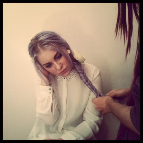 creamofunicorn:  .SHOOTING TODAY WITH FLAVIE EIDEL.