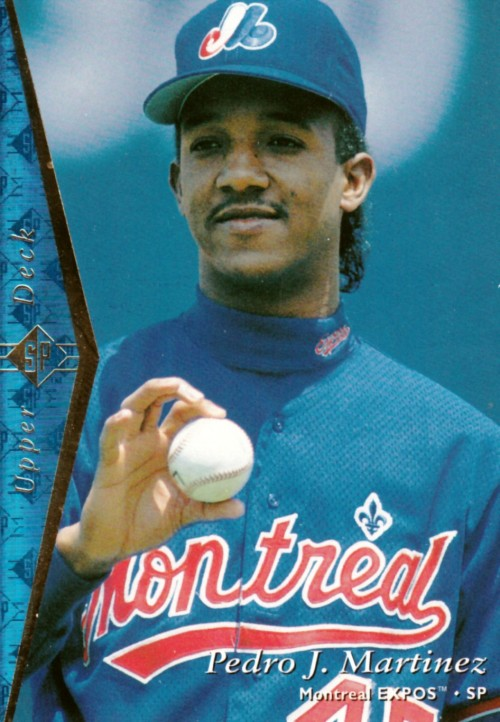 Random Baseball Card #2145: Pedro Martinez, pitcher, Montreal Expos, 1995, Upper Deck.