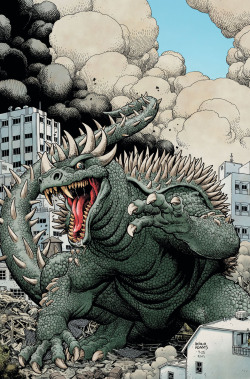"destruction-mode:  ""Anguirus"" by Arthur Adams"