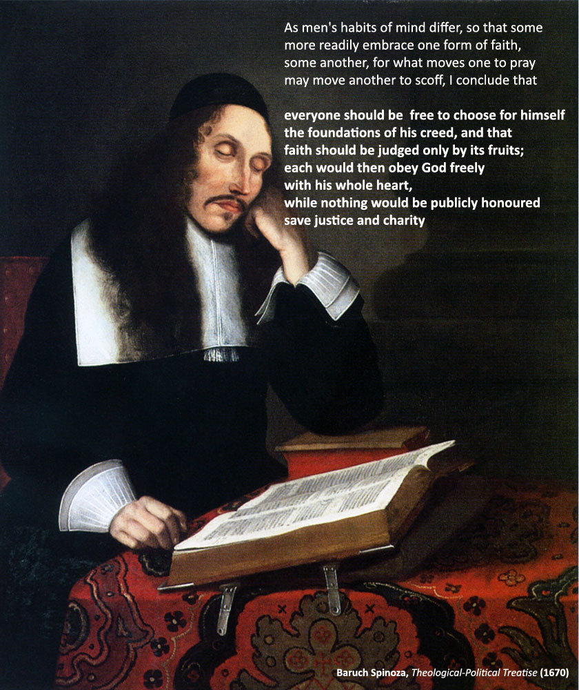 fredric-wertham:  Baruch Spinoza (24 Nov 1632 – 21 Feb 1677) came to be considered one of the great rationalists of c17th philosophy. His magnum opus, the posthumous Ethics, in which he opposed Descartes's mind–body dualism, has earned him recognition as one of Western philosophy's most important contributors.