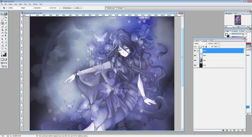 Trying to color without lineart…it's fun. :P Time taken so far: 1 hour (CG only) Why do I want to draw so much this month? I really donno why. I haven't had the urge to draw like this in a long time. Back to writing Livan's path. Almost done with chapter 3.