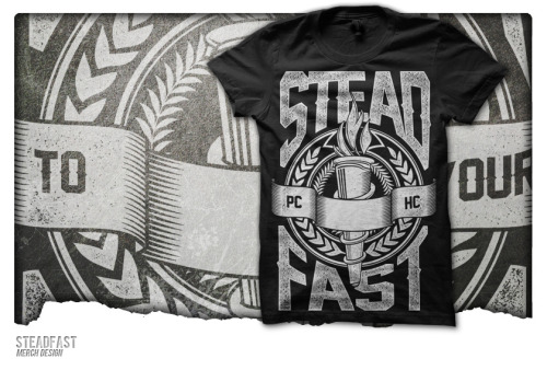 Pre-made Merch Design sold to a new band called Steadfast. Any questions/inquiries? Email upriseart@gmail.com