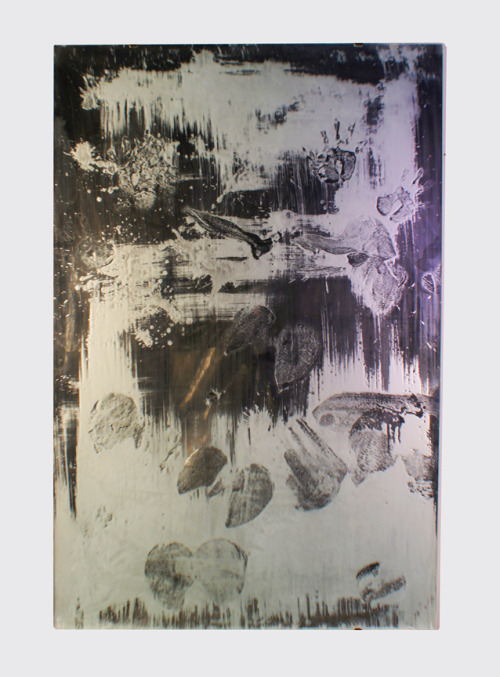 "Acid Mirror, 2012, 60x40"" Acid on Mirror"