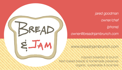 bread and jam business card