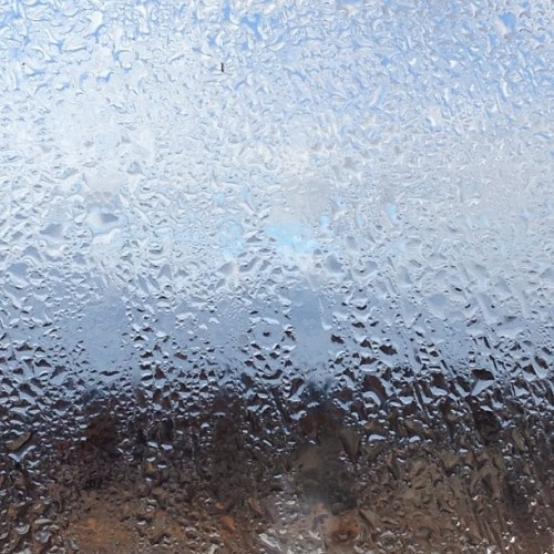 A little afternoon #abstract. #condensation #window #landscape #urban #305knowlton #bridgeport #ct #mabp  (at M. A. Beaulieu Photography)