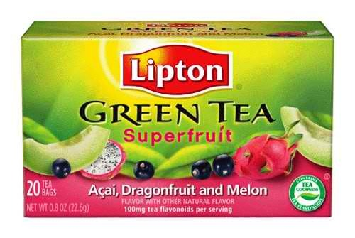 ITEM OF THE DAY: ITEM OF THE DAY:  LIPTON SUPERFRUIT GREEN TEAby Andrea Greb http://bit.ly/XOzafS