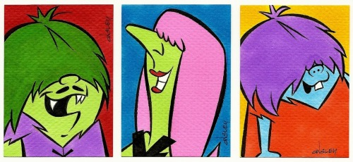 The Gruesomes Sketch Cards by Patrick Owsley