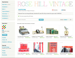 Through Monday, November 26, save 20% off your order from Rose Hill Vintage by entering coupon code TUKREY20 at checkout!