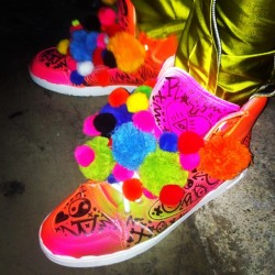 Customised trainers I did for @RylanClark @xfactorstyle