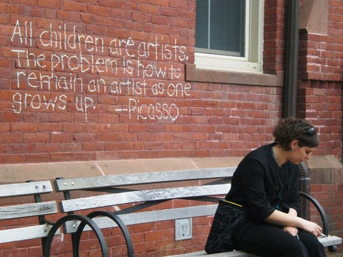 "typeless:  ""All children are artists…"" on Flickr."