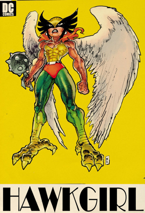 love-and-radiation:  I kind of love Ralph Niese's Hawkgirl.  Damn.  Someone's been working on her gains.