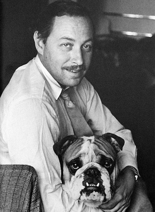 clubmyrtlemae:  tennessee williams  When dogs and their owners/hella famous writers start to look alike.
