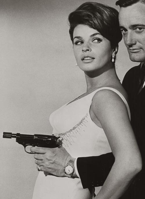 rrrick:  Senta Berger with Robert Vaughn in The Man from U.N.C.L.E. (1964)