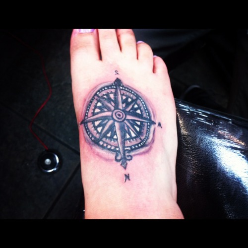 disneyink:  My Peter Pan compass tattoo. Done by Victor Torres at Explict ink In Fullerton California