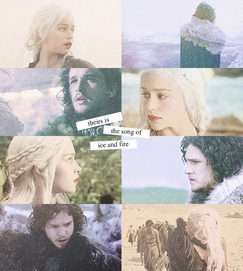 theirs is the song of ice and fire