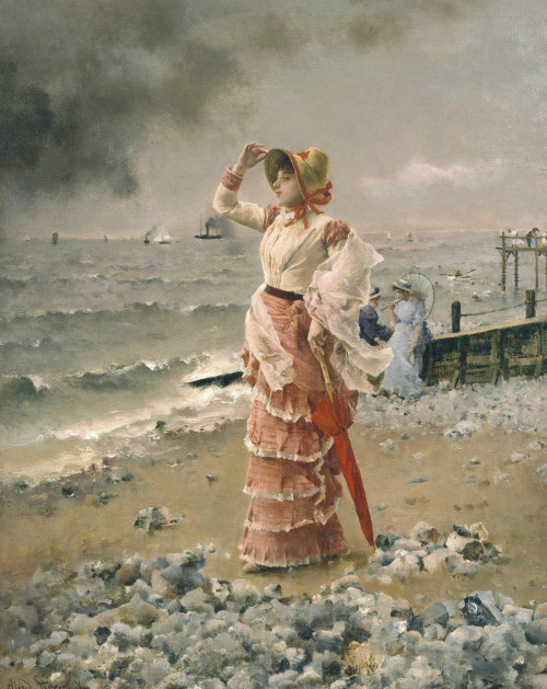 vcrfl:  Alfred Stevens: Au Havre, 1884. Oil on canvas, 92 × 73 cm.