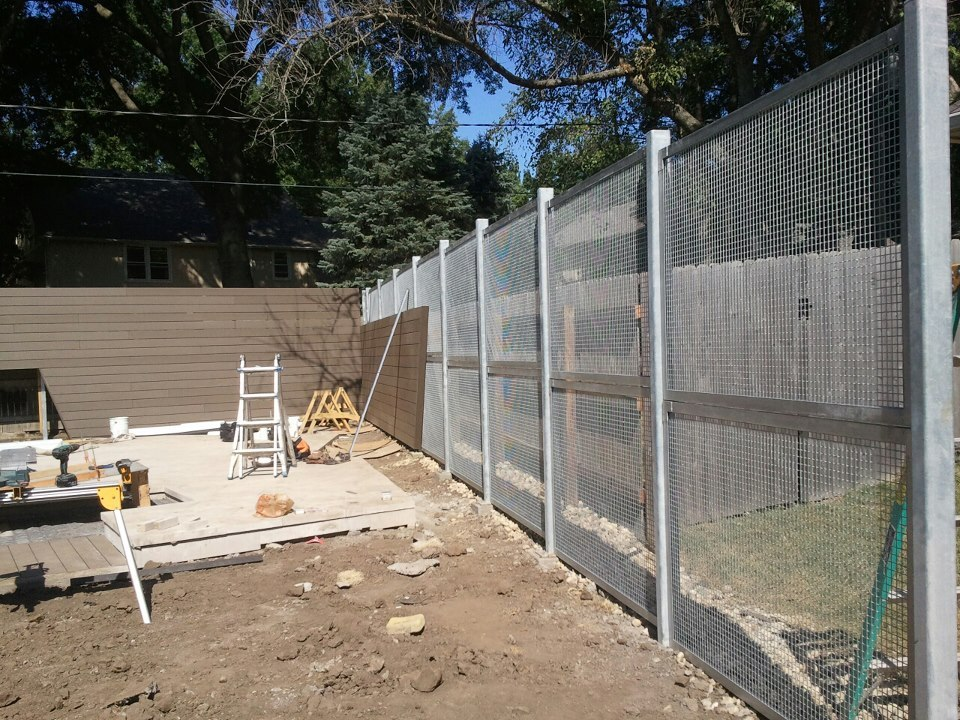 Eco-mesh wall we created a few months ago-