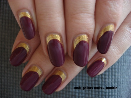 andipaintsnails:  Birthday nails part 2: My first try with the ruffian manicure. I am now the proud owner of 5 Skyfall polishes and I knew I had to use Goldeneye and Casino Royale together