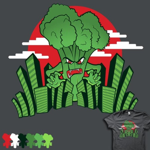 Broccozilla by Buzatron now up for voting at Shirt.WootEat your veggies kids or bad things will happen….