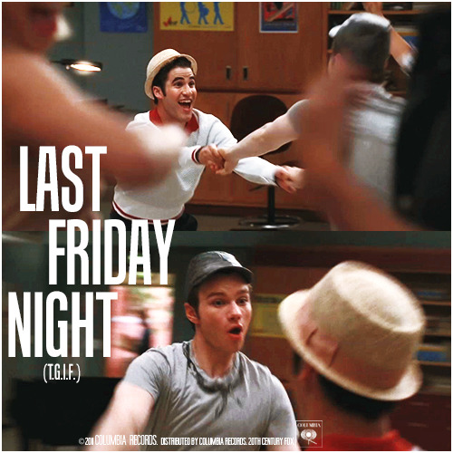 3x04 Pot O' Gold | Last Friday Night (T.G.I.F.) Requested Alternative Cover 'Klaine Gaze Collection' Request by bribed-with-dots